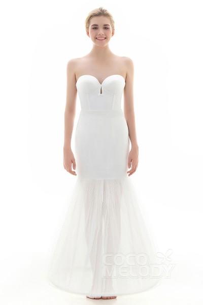 Trumpet-Mermaid Floor-Length Mermaid and Trumpet Gown Slip 1 Hoop Tulle Wedding Petticoats CP0016009