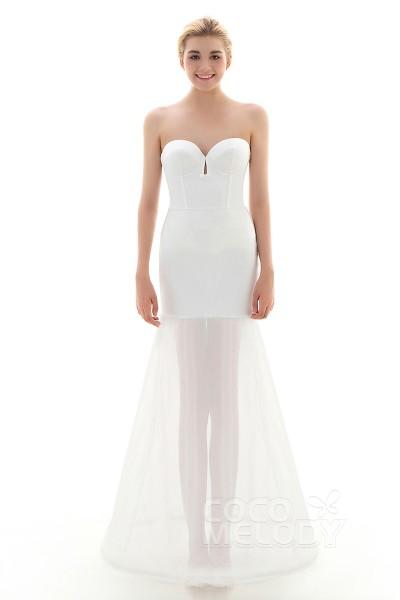 Trumpet-Mermaid Floor-Length Mermaid and Trumpet Gown Slip 1 Hoop Mesh Wedding Petticoats CP001600A