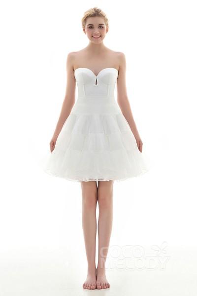 A-Line Knee Length Short Flare Slip Organza Wedding Petticoats CP001600C