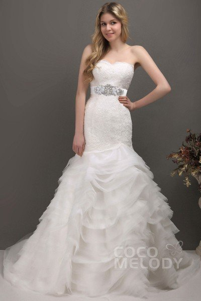 cocomelody stylish trumpet amp mermaid wedding dresses page3