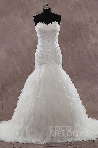Sweetheart Feather Wedding Dress