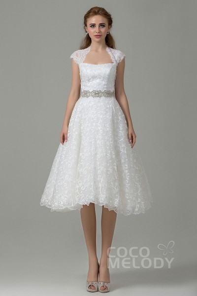 Short Wedding Dresses & Reception Dresses | CocoMelody.com