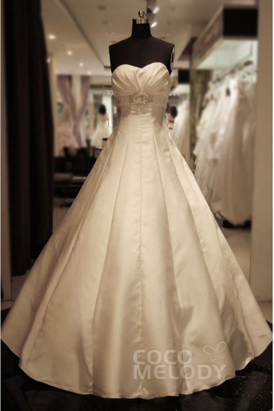 Cocomelody cheap empire wedding dresses empire waist for Wedding dress large bust small waist