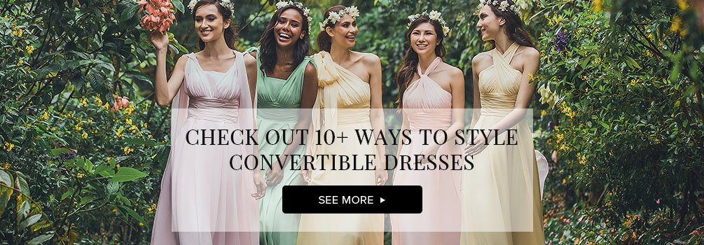 Cocomelody: Convertible Bridesmaid Dress | 80+ Colors & All Sizes!