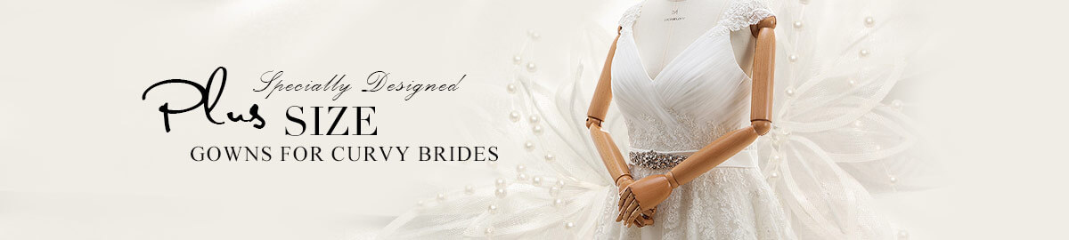 Cocomelody Plus Size wedding dresses category banner