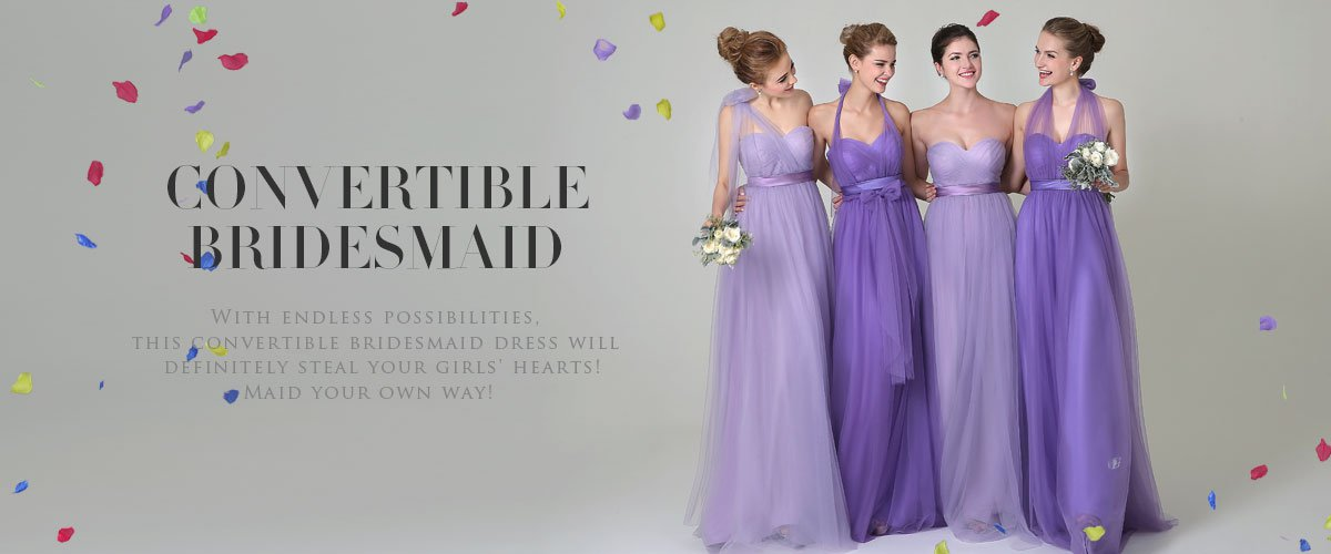 Cocomelody: a line chiffon mutiple styles convertible bridal party ...